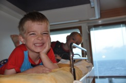Verandah suite on the cruise